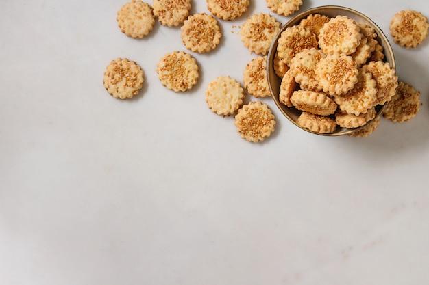 Käse-sesam-kekse