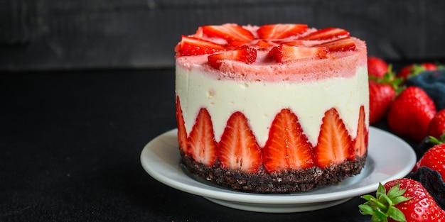 Käsekuchen erdbeere