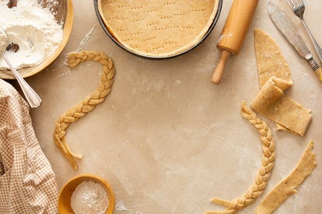 Käsekuchen kochen backen dessert schritt sechs rezept draufsicht