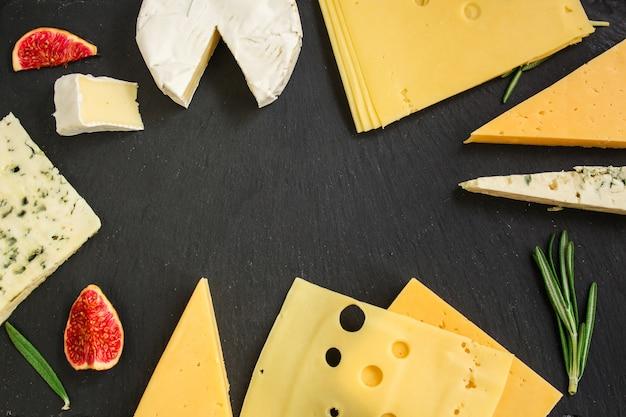 Käsesorte (leckerer snack, verschiedene hart- und weichkäsesorten)
