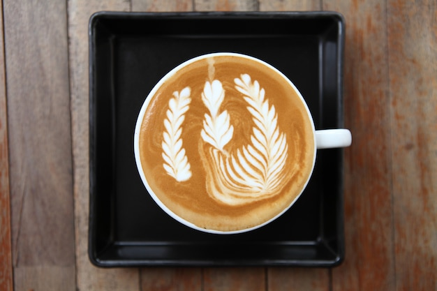 Kaffee auf holz