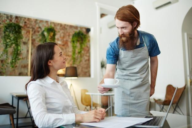 Kaffee für den kunden