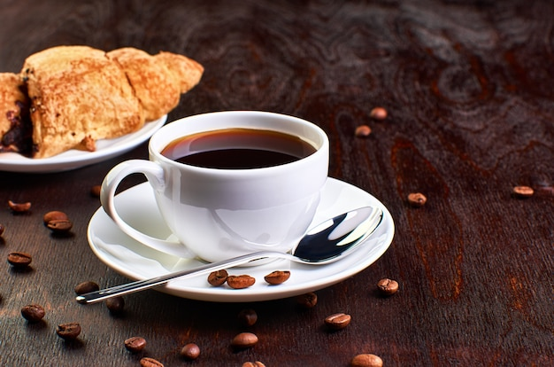 Kaffee im dunkeln
