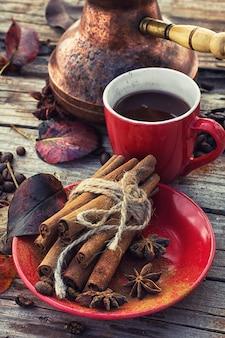 Kaffee im herbst
