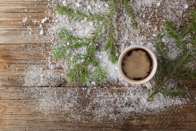 Kaffee im schnee