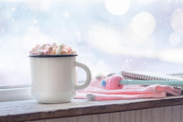 Kaffee mit marshmallows