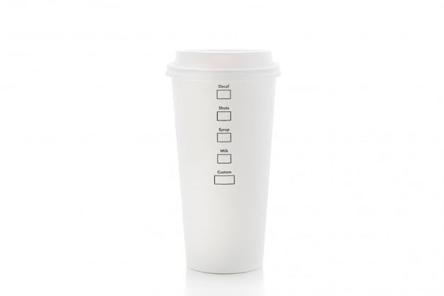 Kaffee pappbecher auf isoliert