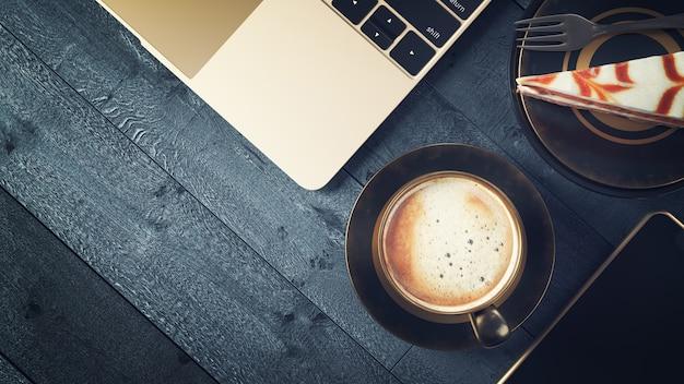 Kaffee und geschäft