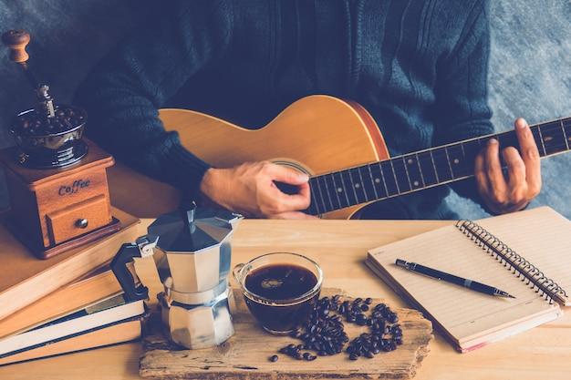 Kaffee und gitarre
