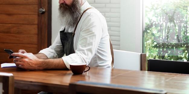 Kaffee-verbindungs-internet-informations-getränkekonzept