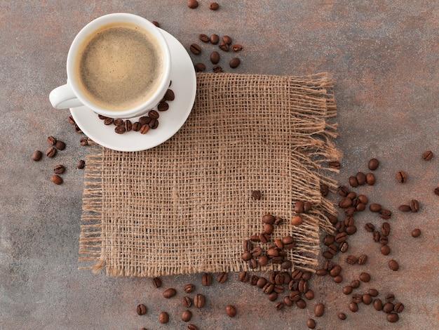 Kaffee zum frühstück, draufsicht