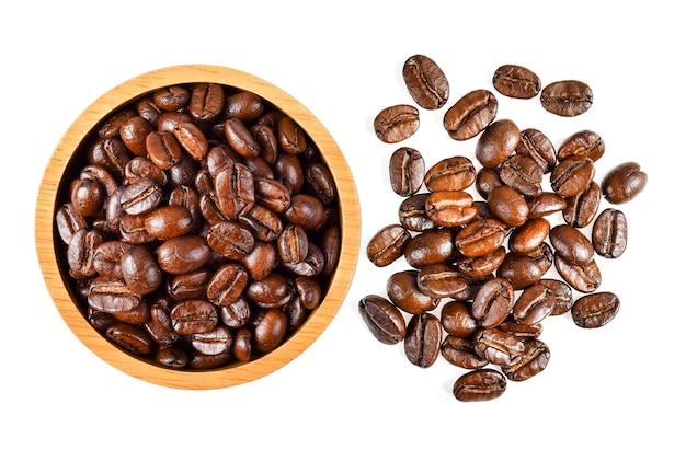 Kaffeebohne lokalisiert auf weiß