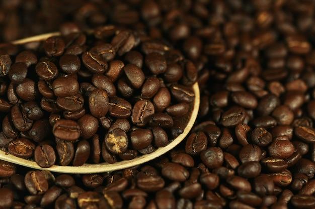 Kaffeebohne nahaufnahme textur hintergrund