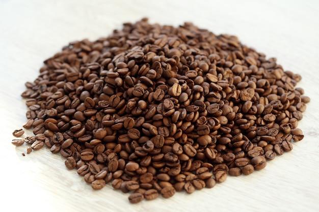 Kaffeebohnen haufen