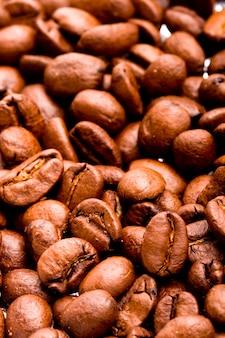 Kaffeebohnen, makronahaufnahme