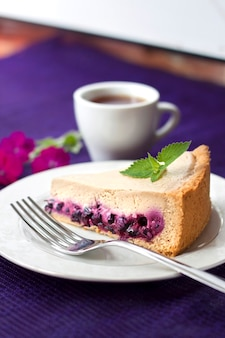Kaffeekuchen mit blaubeeren