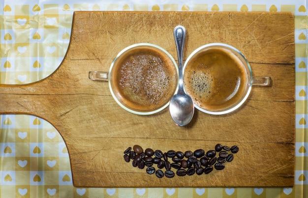 Kaffeelächeln lokalisiert