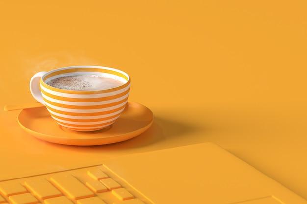 Kaffeemilch minimales konzept