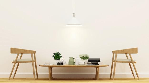 Kaffeestube oder wohnzimmer - wiedergabe 3d