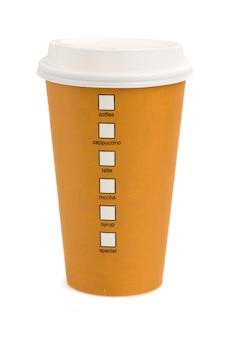 Kaffeetasse isoliert wegnehmen