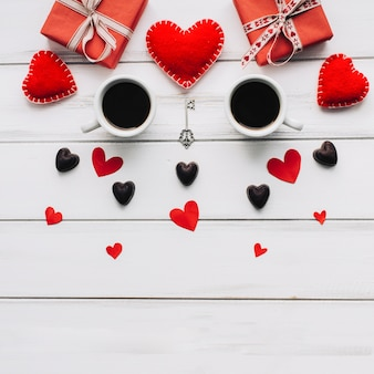 Kaffeetassen und geschenke zum valentinstag