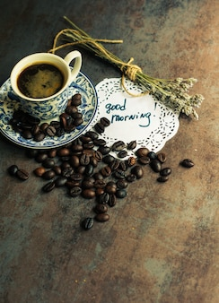 Kaffeezeit-konzept