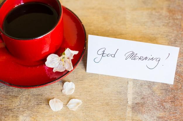 Kaffeezeit und frühling