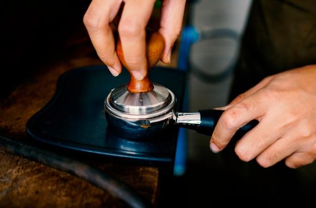 Kaffeezubereitungsprozess.