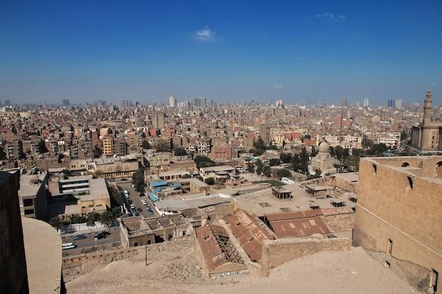 Kairo, ägypten - 5. märz 2017 die ansicht über kairo-mitte, ägypten