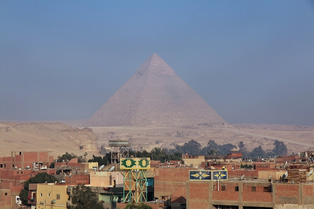Kairo, ägypten - 5. märz 2017 gizeh, ansicht in kairo der hauptstadt von ägypten