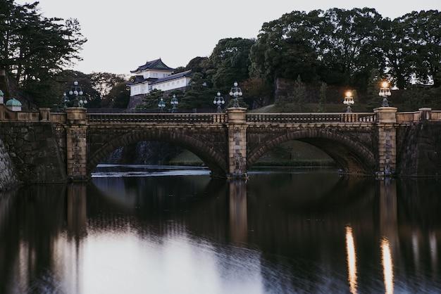 Kaiserpalast der burg edo in tokio
