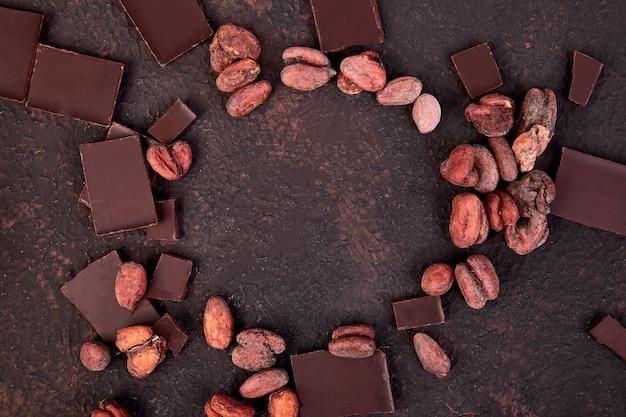 Kakaobohnen rahmen
