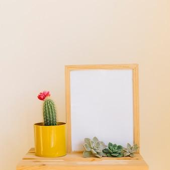 Kaktus und rahmen