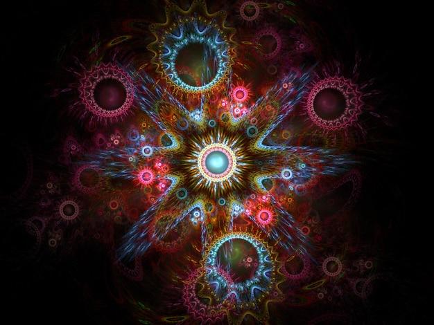 Kaleidoskopfarben auf schwarzem hintergrund
