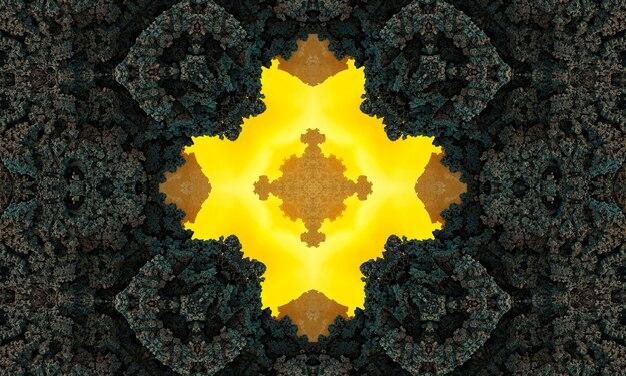 Kaleidoskopkreuz: chaotisches weltsymbol. gut für geschenkpapier, hintergründe, tapeten und textildrucke.