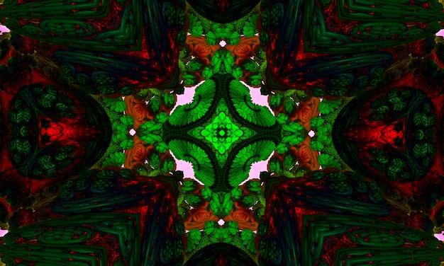 Kaleidoskopkreuz: symbol der natur in form eines kreuzes.