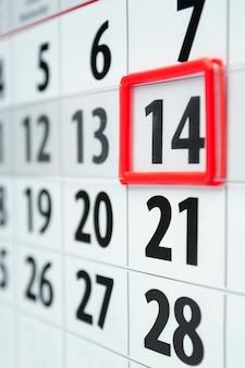 Kalender mit marker