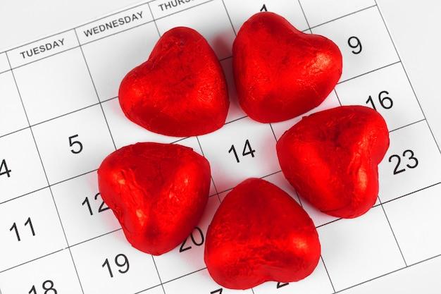 Kalender mit st. valentine datum