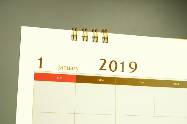 Kalenderseite des monats