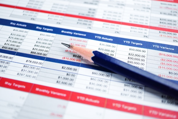 Kalkulationstabellenpapier finanzentwicklung