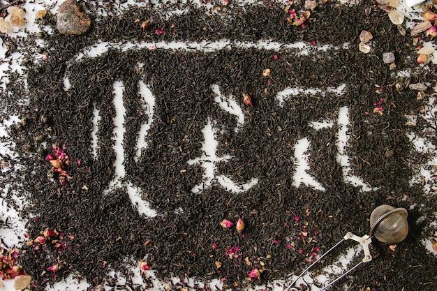 Kalligraphische inschrift tee