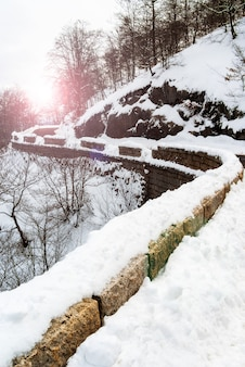 Kalter tag in den bergen