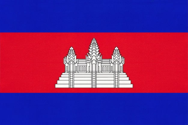 Kambodscha national stoff flagge