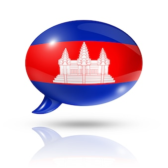Kambodschanische flagge sprechblase