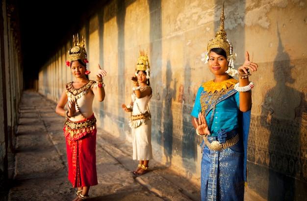 Kambodschanische traditionelle tänzer
