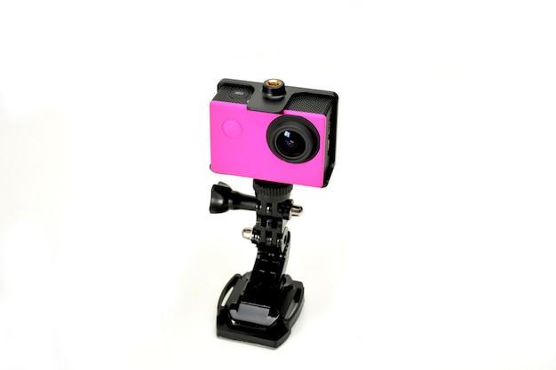 Kamera aktion der farbe fuchsia