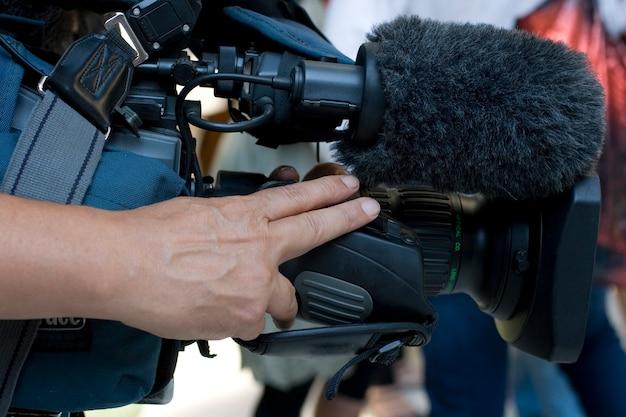 Kameramann in aktion