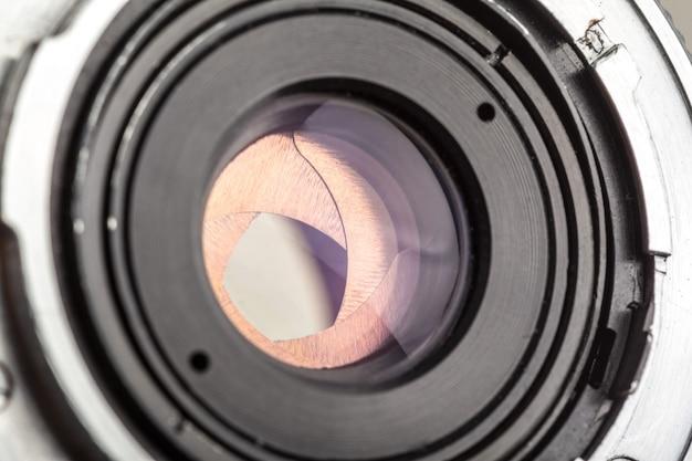 Kameraobjektiv hautnah