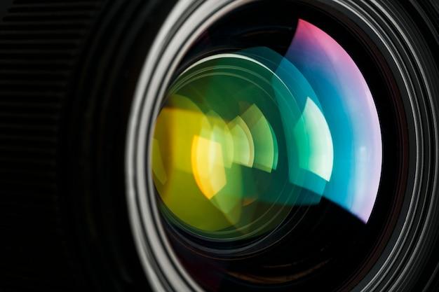 Kameraobjektiv mit einer schönen nahoptik als trägermaterial