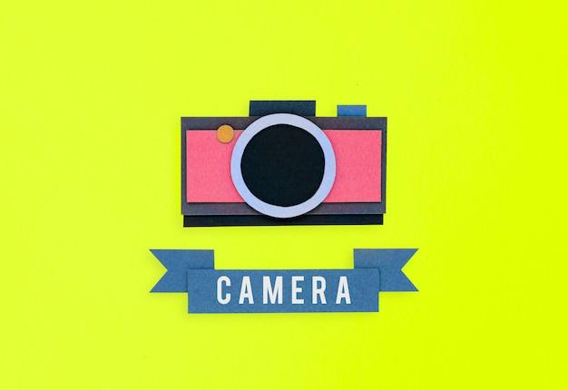 Kamerapapierhandwerk handgefertigt